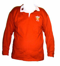 WALES WELSH ADULTS RUGBY SHIRT CYMRU FEATHERS DRAGON FULL SLEEVE  ALL SIZES NEW