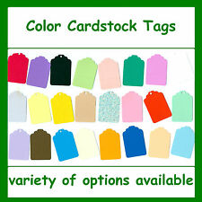 Tags Color Cardstock Blank Colored Gift Tag Consignment Shop Price Craft Sale
