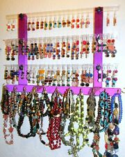 "Jewelry & Earring Holder MINI GG Holds 51 Pair Mounts on Wall ""PICK A FABRIC"""