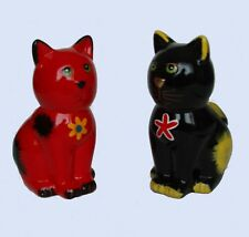 Cat Money Box Ceramic Bright Painted Seated Cat Piggy bank Height 14.5cm