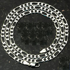 """4MM FIGARO LINK .925 STERLING SILVER CHAIN Made in Italy FREE SHIPPING! 16 - 30"""""""