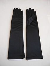BLACK WEDDING PAGEANT RECITAL PARTY DANCING COSTUME FLOWER GIRL'S ELBOW GLOVES
