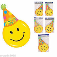 SMILEY FACE INVITATIONS ~ Birthday Party Supplies ~ Different Ages Available!!