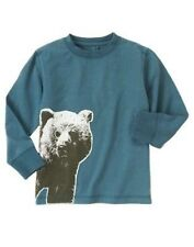 NWT Gymboree Boys sz 8 Grizzly Lake - Bear Blue Teal Long Sleeve Shirt