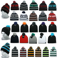 ETHOS BEANIE MÜTZE FLAP LONG SLOUCH NEW YORK  WINTER MÜTZE BOMMEL CAP ERA JERSEY