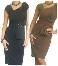 Ladies Dress Womens Office Work Pencil Bodycon Business New Size 10 12 14 16 18