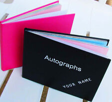 One PERSONALISED blank AUTOGRAPH BOOK great gift idea ANY NAME YOU WANT ON COVER