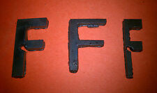 "Raw Metal Art Letter ""F"" Great for Crafts - Decor - Metal Steel - Unique Raw"