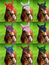 GEE TAC  QUALITY HORSE RIDING FLY VEIL FLY BONNET FLY MASK ALL SIZES AND COLOURS