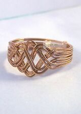 Bronze 8 Band Open Weave Princess Design Turkish Puzzle Ring