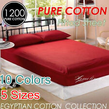1200+ High Quality Egyptian Cotton Single/Double/Queen/King Size Fitted Sheet