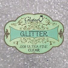 GlateeQ 20g Clear Ultra Fine Glitter .008 - Craft, Nail Art or Floristry