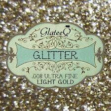 GlateeQ 40g Light Gold Ultra Fine Glitter .008 - Craft, Nail Art or Floristry