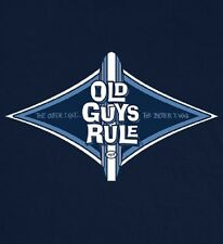 OLD GUYS RULE CLASSIC DIAMOND LONGBOARD NAVY BLUE TEE SHIRT