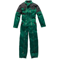 MENS DICKIES EZ-ON FULL LENGTH ZIP FRONT COVERALL OVERALLS WD6000 BOTTLE GREEN