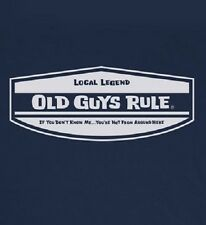 OLD GUYS RULE CLASSIC LOCAL LEGEND NAVY BLUE TEE SHIRT