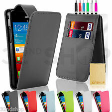 NEW FLIP PU LEATHER CASE COVER SCREEN PROTECTOR FOR SAMSUNG GALAXY S2 i9100