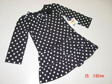 NWT Toddler Girls Healthtex Polka Dot Ruffled Dress Long Sleeve Adorable