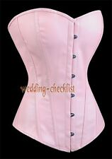 Pink Faux Leather CORSET S-2XL Wedding Gothic Bustier Tuxedo Queen WC-v959_p