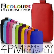 100% NEW PULL UP TAB POUCH PU LEATHER COVER CASE FOR SONY XPERIA MOBILE PHONE
