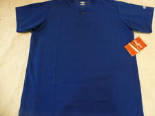 Youth Boys RAWLINGS ROYAL BLUE Baseball ONE Button HENLEY JERSEY 100% POLYESTER