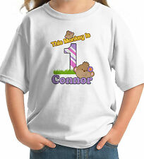 Big Number LITTLE MONKEY Birthday GIRL T-shirt CUTE GIRLY personalized name
