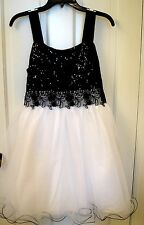 Bonnie Jean 88130  Black & White Formal Dress Plus Sizes 12.5-20.5 _ NWT