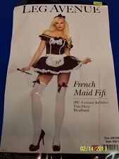2 pc. French Maid Fifi Chamber Upstairs Dress Up Sexy Adult Costume Accessory