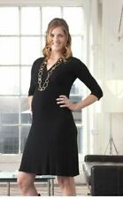 New JAPANESE WEEKEND Maternity Nursing Ribbed Knit Sexy Black CAREER DRESS $96
