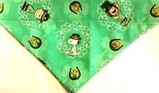Snoopy Peanuts St. Patrick's Day Dog over the collar Scarf - Bandana