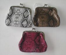 Kiss Lock Coin Purse Victoria Leland Designs Faux Snakeskin Choose 1 of 3 Colors