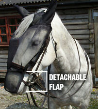 GEE TAC BLACK FLY MASK RUG FULL FACE RIDING MASK FOR HEAD SHAKERS ALL SIZES