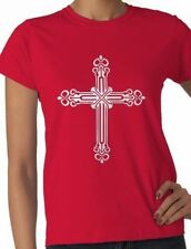 Cross Tattoo Celtic Style Ladies T-Shirt Gift  Size S-XXL