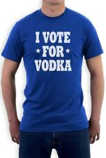 I Vote for Vodka T-Shirt Election America Anti Obama Romney Tipsy Funny