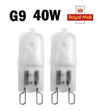 2 / 5 / 10 x G9 Halogen Light Bulbs Capsule 240V 40W Watt Frosted Dimmable