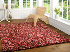 Large Super Soft Shaggy Quality Rug in Cranberry Pink Red in Three Sizes Carpet