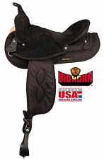 "Big Horn Black Synthetic Gaited Horse Saddle (16"" or 17"")"