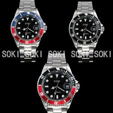 New SOKI Red Blue Black Analog Automatic Mens Mechanical Wrist Band Watch S86T