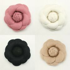 Camellia Flower Applique Millinery Trim Brooch Corsage craft Hair Accessories #9
