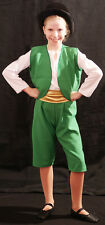 LEPRECHAUN/MUNCHKIN/GREAT OZ/WICKED/WIZ OF OZ with Top Hat Fancy Dress all ages