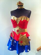 KIM......  style wonder woman corset costume with hotpants, briefs,skirt