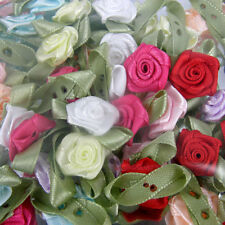 Card Toppers x 100 Satin Roses Rose Buds Rosebuds Wedding Flowers Decoration