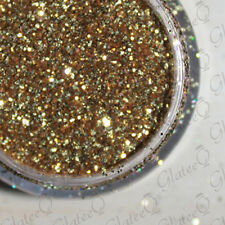 GlateeQ 5g Pot Dark Gold Ultra Fine Glitter .008 - Craft, Nail Art or Floristry.