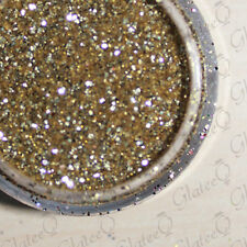 GlateeQ 5g Pot Light Gold Ultra Fine Glitter .008 - Craft, Nail Art or Floristry