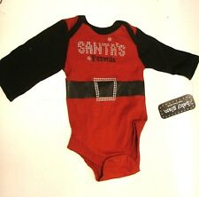NEW BABY GLAM RED & BLACK ONE PIECE SANTA'S FAVORITE SANTA SUIT MOTIF