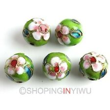Wholesale 20Pcs As sorted Round Cloisonne Enamel Chinese Craft Loose Beads 12mm