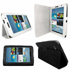 "Samsung Galaxy Tab 3 7"" Folio Case Cover/Wallet Flip Stand PU Leather For SM-T21"