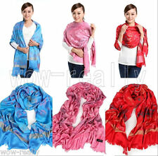 2013 BRAND NEW sTYLE 100% CASHMERE SMALL FLOWER FRINGED SCARF 70X28''