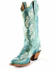 NEW CORRAL Ladies R1973 TURQUOISE BLUE COWBOY BOOT