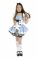 Fairy Tale Alice in Wonderland Cute Blue Dress Up Halloween Deluxe Child Costume